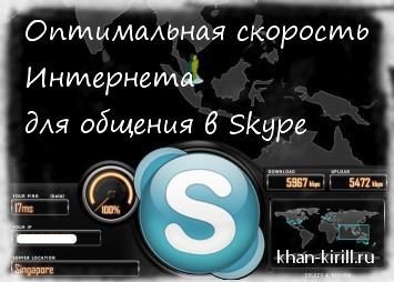 Скорость интернета для skype